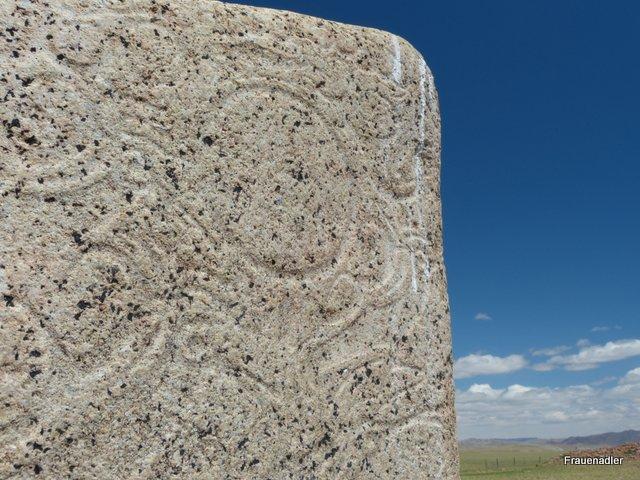 008 Deer Stone - detail