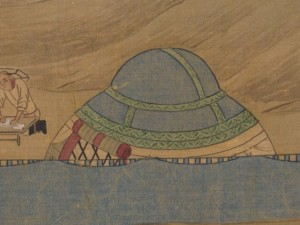 Close-up of smaller Khitan ger